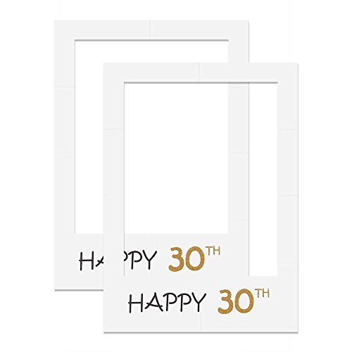 Women Men Papercard Happy 30th Photo Booth Props Frame -2 - Happy For Birthday Frames Men