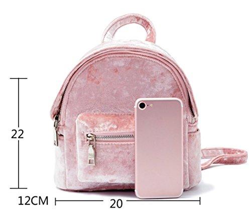 Pink Cartera Mujer Mini Simple Mochila De Casual Campus De De v48qw4zg