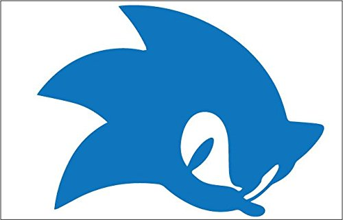 Sonic 7x4 Inch High Quality Out Door Vinyl Decal For Laptop, Car, Window, Computer, Etc. BLUE