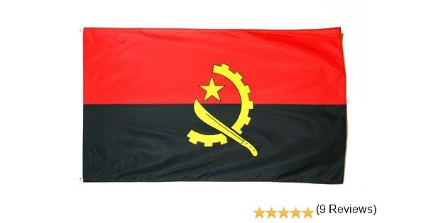 AZ FLAG Bandera de Angola 150x90cm - Bandera ANGOLEÑA 90 x 150 cm: Amazon.es: Jardín