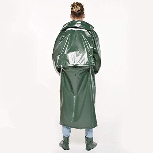 Erwachsene Poncho Regenmantel Regenkleidung Wiederverwendbare Rucksack Outdoor Simple Klare Eva Reisen Grün Estilo Wandern Bergsteigen 5AqFFB