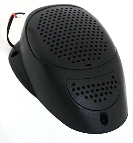 Black 3 Inch Waterproof Surface Mount Satellite Speaker 25 Watts Marine Spa RV ()