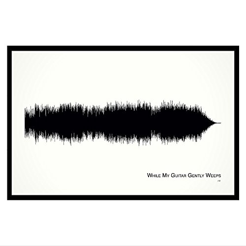 While My Guitar Gently Weeps - 11x17 Framed Soundwave print