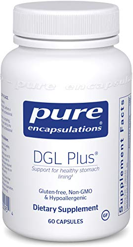 Licorice Chewable Dgl - Pure Encapsulations - DGL Plus - Herbal Support for the Gastrointestinal Tract* - 60 Capsules