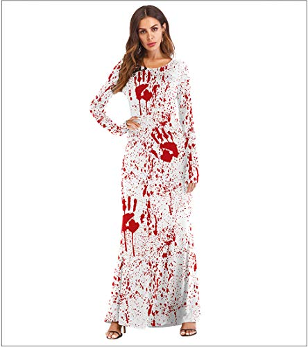 Sijux Femmes Halloween Costume Manches Longues Impression Devil Party Masquerade Performance Cosplay Clubwear Robe Moulante