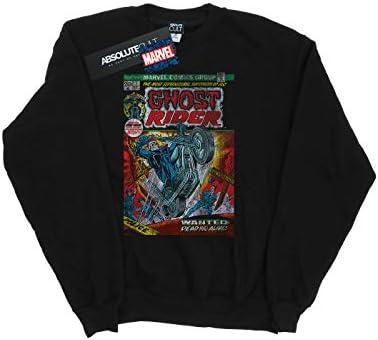 Marvel Universe Herren Ghost Rider Distressed Comic Cover Sweatshirt Schwarz XXXXX-Large