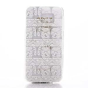 WQQ Teléfono Móvil Samsung - Cobertor Posterior - Gráfico/Diseño Especial - para Samsung Samsung Galaxy S6 ( Multi-color , TPU )