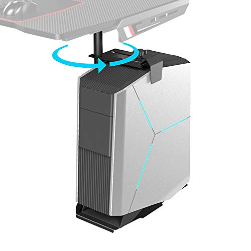 EUREKA ERGONOMIC 360 Degree Rotating CPU Hanger, Height & Width Adjustable, Fit for Gaming and Working Demand, Black