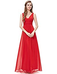 Sleeveless V-Neck Semi-Formal Maxi Evening Dress 09016