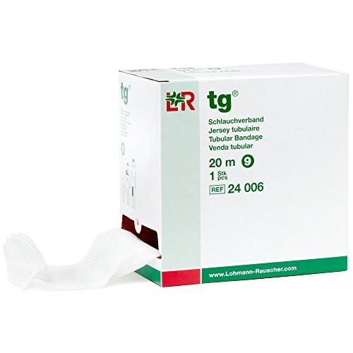 tg Tubular Bandage, Seamless Knit Stockinette Wrap for Lymphedema Compression Bandaging, Lightweight, Breathable, Washable, Reusable Elastic Bandage, 67% Cotton, 33% Viscose, Size 9, 20 m ()