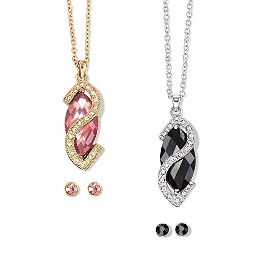 Avon Delicate Dazzle Necklace and Earring Gift Set - BLACK
