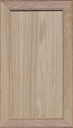 Oak Front Door (Unfinished Oak Mitered Flat Panel Cabinet Door by Kendor, 28H x 16W)