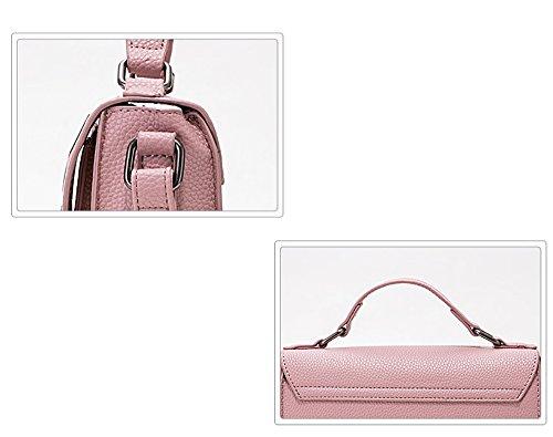 Shoulder Shoulder Simple Fashion Bag 16Cm Messenger Three 23Cm Vertical × Strap Brown PU Fashion WDBB Personality vYI88q