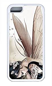 iPhone 5c case, Cute Anime Butterfly Elves iPhone 5c Cover, iPhone 5c Cases, Soft Whtie iPhone 5c Covers