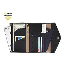 Genuine Leather RFID Blocking Passport Travel Wallet – Card Organizer
