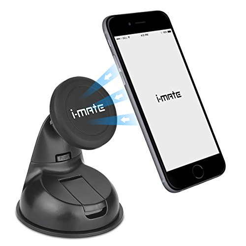 Car Mount, i-Mate Universal Magnetic Phone Holder Cradle for Windshield/Desk, for iPhone 6 6S Plus 5S 5C 4S, Samsung Galaxy S5 S4 S3 Edge Note 2 3 4,Nexus 5,HTC,LG,BlackBerry,GPS Device