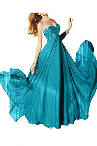 Acabado en forma de corazón de la Toscana de novia de gasa largo de Fiesta Noche vestidos de cristal bola para mujer vestidos de Prom Tuerkis