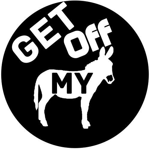 - Keen Get Off My Ass Vinyl Decal Sticker|Car Truck Van Wall Laptop|White|5.5 in|KCD666
