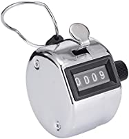 Hand Tally Counter Clicker 4 Digit Display Handheld Manual Mechanical Digital Number Click Golf Counter