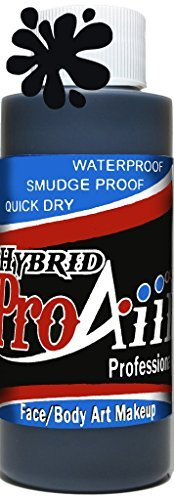 Face Painting Makeup - ProAiir Waterproof Makeup - 8 oz (240ml) Black by ShowOffs Body Art by  (Image #1)