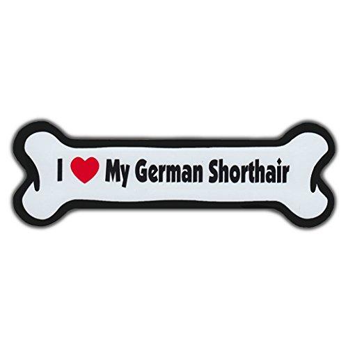 Refrigerator Magnet - Dog Bone - I Love My German Shorthair (Short Hair Pointer) - 7