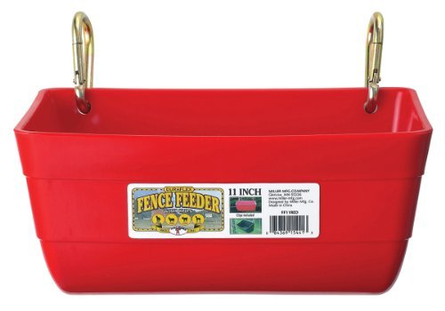Little Giant Fence Feeder with Clips, 11-Inch, Red by LITTLE GIANT