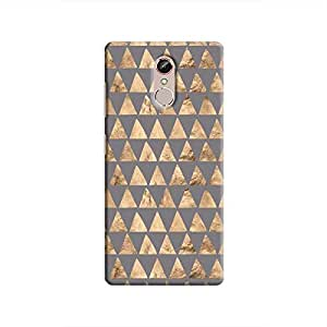 Cover It Up - Brown Grey Triangle Tile Gionee S6s Hard Case