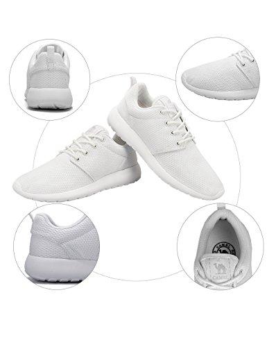 Blanco Ligeras para al Aire Deportivos Gimnasio Transiprable de CAMEL Calzado Running CROWN Zapatos Malla Caminar para Hombres Zapatillas Libre Correr Atletismo Casual Tenis HwqB4