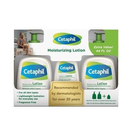 Cetaphil Moisture Lotion 2/20oz + 4oz Bonus