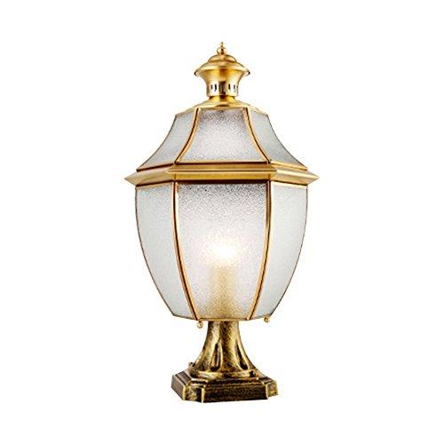 Lampada impermeabile del giardino, lampada da parete della lampada della parete della lampada della parete del giardino della parete del giardino dell'interno Retro luce della luce del prato luce singola E27, alta 43-50CM ( dimensioni    3 )
