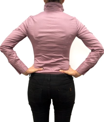 Extra Me Mujer Cuerpo Blusa, Blusa Cuerpo, S, M, L, XL, manga larga, sólido, nuevo. Rosa
