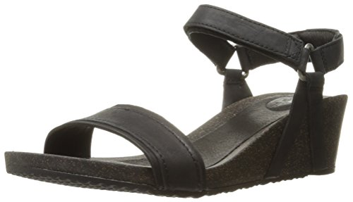 Teva Women's W Ysidro Stitch Wedge Sandal, Black, 11 M US