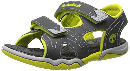 Adventure Sandals - Timberland Adventure Seeker Two-Strap Sandal (Toddler/Little Kid),Dark Grey/Green,12 M US Little Kid