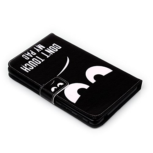 Tab 4 7.0 inch Case, Dteck(TM) Cartoon Design Flip Wallet Stand Case with Card/Money Slots Magnetic Closure Protect Cover for Samsung Galaxy Tab 4 7.0 inch T230/T231 (01 Don't Touch My Pad)