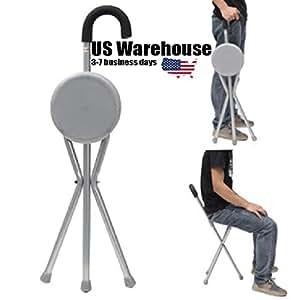 Amazon Com Outdoor Travel Folding Stool Chair Portable