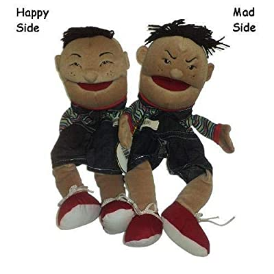 Double Face Hispanic Boy Puppet: Toys & Games