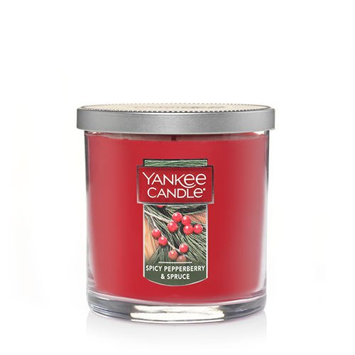 Yankee Candle Spicy Pepperberry & Spruce Small Tumbler Candle, Festive Scent