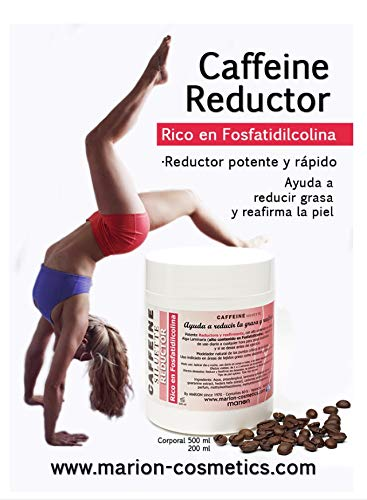 Gel Anticelulítico Reductor Caffeine xxl - 500ml . Reafirmante con Alto Contenido en Cafeína, Alga