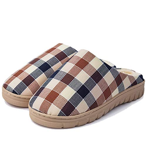 Day Comfort Farbe Herren Plaid Hautfreundlich größe A Indoor Winter Home Home Boden Slippers Hausschuhe Home 42 AMINSHAP A Cotton Paar 44EU Living A8axqtC