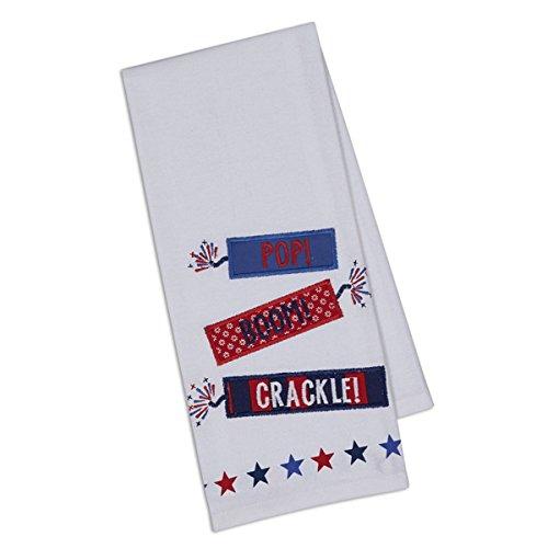 DII Imports Firecrackers Embellished Dishtowel