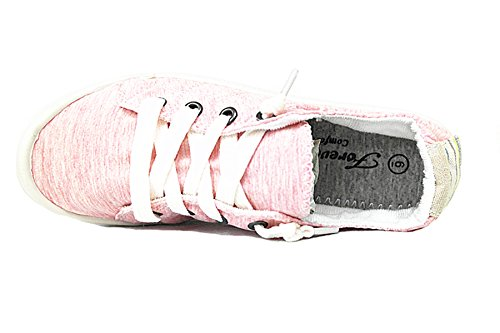 Street 01 Flat Shoes Pink Forever up Lace Casual Link Comfort Sneakers Women's fxwg8wYnqP