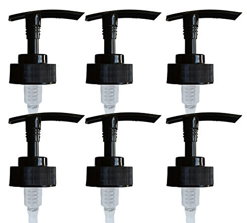Firefly Craft Replacement Lotion and Soap Pump Dispensers for 28/400 Bottles, Pack of 6