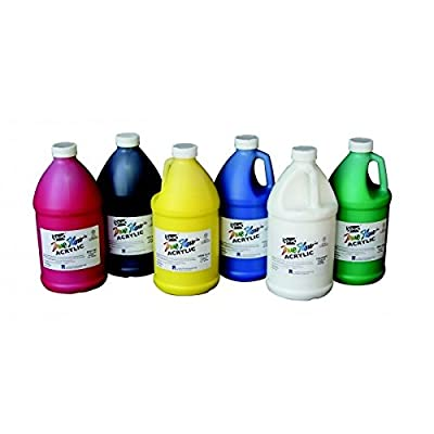 (Ship from USA) Sax True Flow Medium Body Acrylic Paint Set, 1/2 Gallon Containers, Assorted ...