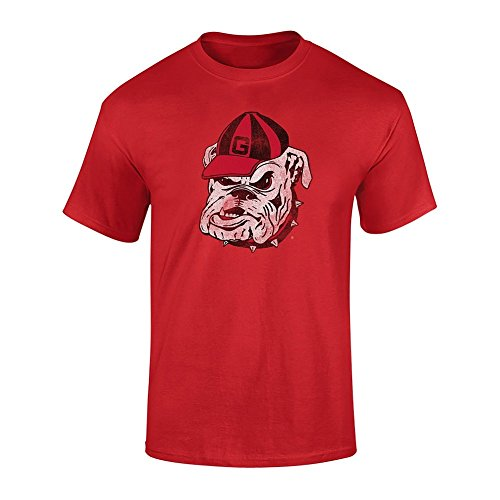 ia Bulldogs Tshirt Vintage Icon Red - M ()