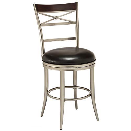 Hillsdale Furniture 5173-830 Kilgore Swivel Bar Stool, Height, Dull Nickel