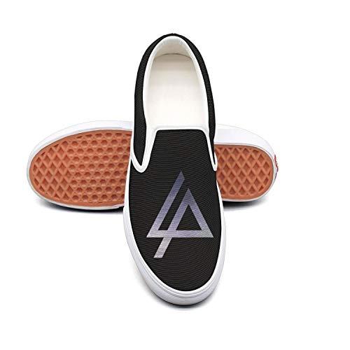 Authentic Pearl Jam - Dolorexri Linkin-Park- Womens Canvas Slip-on Fashion Sneaker Skate Shoe