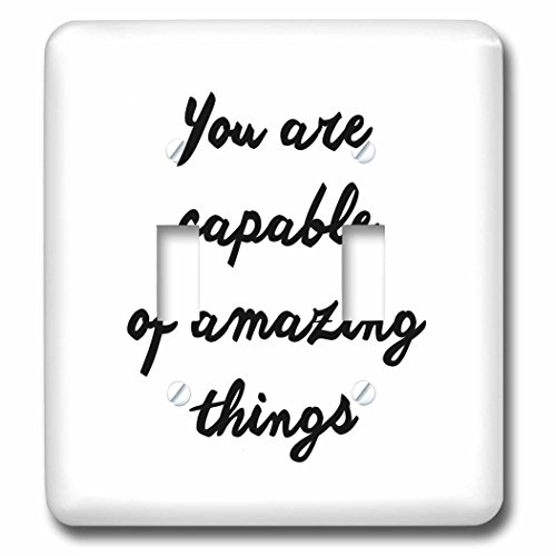 Tory Anne Collections Quotes - YOU ARE CAPABLE OF AMAZING THINGS - Light Switch Covers - double toggle switch - Tory Outlet