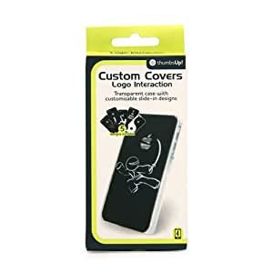 Thumbs Up UK Custom Cover with Interactive Logo for iPhone 4 - Retail Packaging - Clear