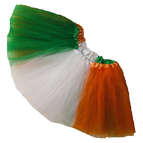Southern Wrag Company Big Girls St Patricks IRISH FLAG Tutu Waist 22-40 Length 11