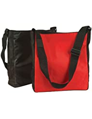 DALIX 15 Lightweight Sports Gym Zippered Tote Bag with Side Pocket